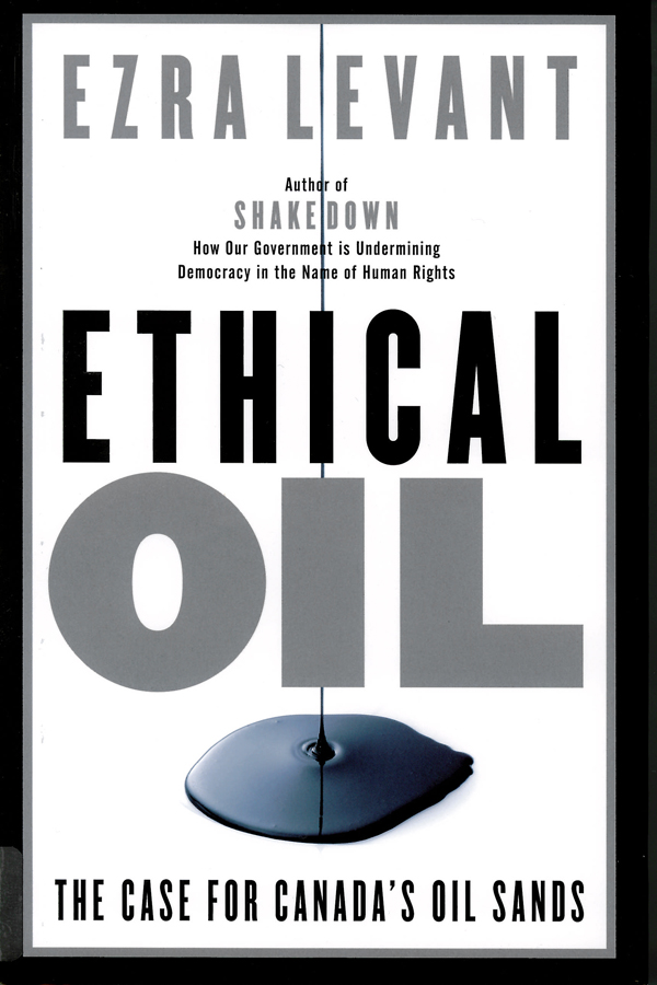 Picture of the front cover of the book entitled Ethical Oil.
