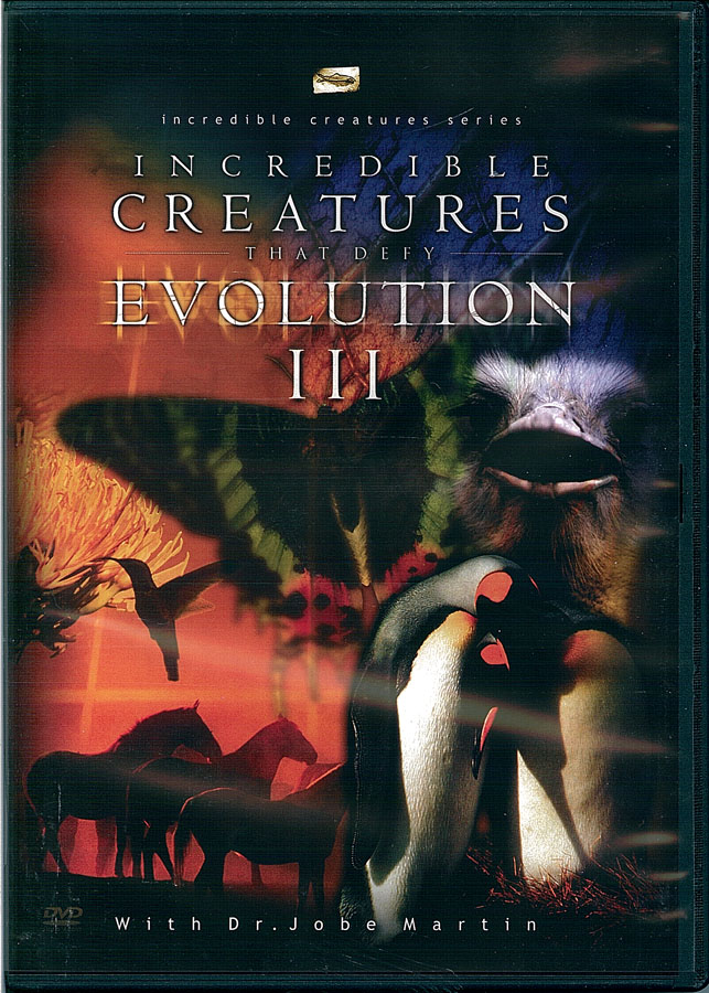 Picture of the front cover of the DVD entitled Incredible Creatures That Defy Evolution III.