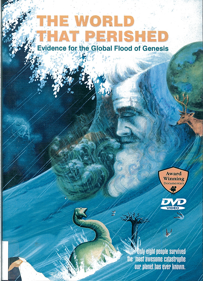 Picture of the front cover of the DVD entitled The World that Perished.